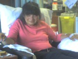 Sarah getting her infusion.